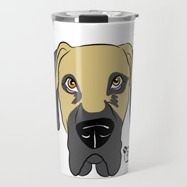 Faun Great Dane Face Travel Mug