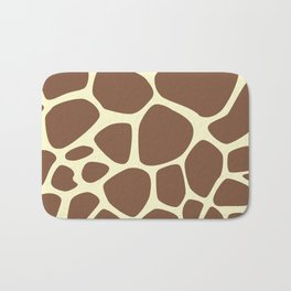 Animal Print (Giraffe Pattern) - Brown Yellow Bath Mat