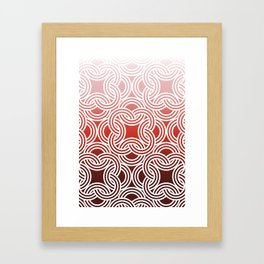 Ombre Abstract Circle Pattern Framed Art Print