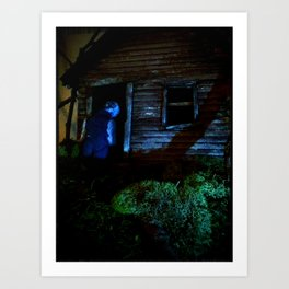 in the dark Art Print