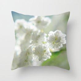 Itty-bitty white Throw Pillow