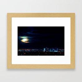 Denver Super Moon Framed Art Print