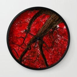 Ruby Leafage Wall Clock