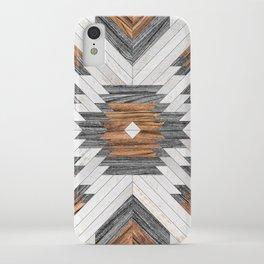Urban Tribal Pattern No.8 - Aztec - Wood iPhone Case