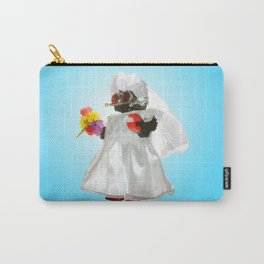 Bridebot Blue Carry-All Pouch