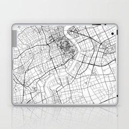 Shanghai White Map Laptop & iPad Skin