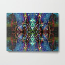 Trippy Kalidescope Pattern Metal Print