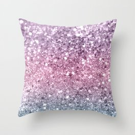 Unicorn Girls Glitter #5 #shiny #pastel #decor #art #society6 Throw Pillow
