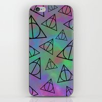 deathly hallows iPhone & iPod Skins featuring Deathly Hallows  by Paige Norman