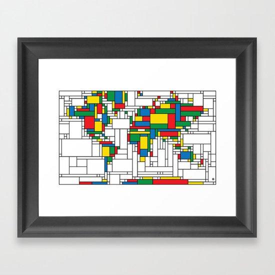World Map - Modern Framed Art Print
