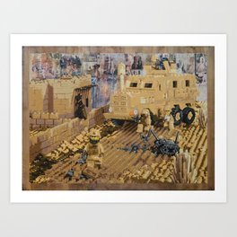 Clearing the Road, Kandahar Province, Afghanistan Art Print