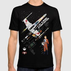 X-wing dissection  Black MEDIUM Mens Fitted Tee