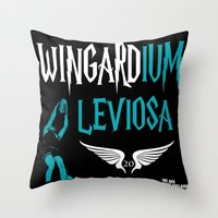 chad wys Throw Pillows featuring WINGARDium Leviosa (Chad Wingard - AFL Mark of the Year) by morethanasport