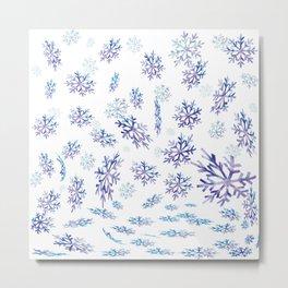 Snowflakes falling Metal Print