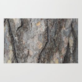 pine tree bark - scale pattern Rug