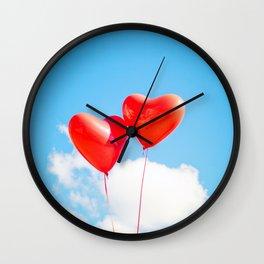 Heart Balloons Wall Clock
