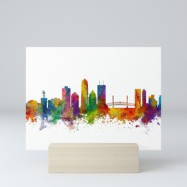 Jacksonville Florida Skyline Mini Art Print