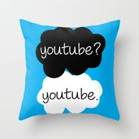youtube Throw Pillows featuring YouTube? by samonstage_lyrics