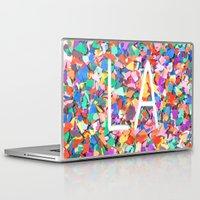 la Laptop & iPad Skins featuring LA by StuartWallaceArt