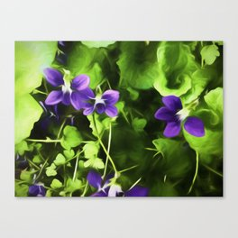 Wild Violets Of Spring Time Canvas Print