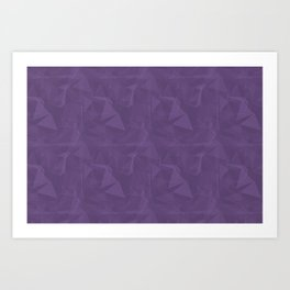 Abstract Polygon Pantone Chive Blossom Purple 18-3634 Geometrical Low Poly Triangle Pattern 1 Art Print