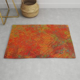 Bright Reds and Coppers Abstract Rug