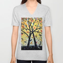 Abstract Art Landscape Original Painting ... New Day Dawning Unisex V-Neck