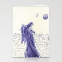 angels Stationery Cards featuring Angels by Óscar S. Cesteros