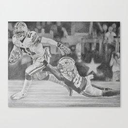 Zeke Elliott drawing by Candida- Cowboys Canvas Print