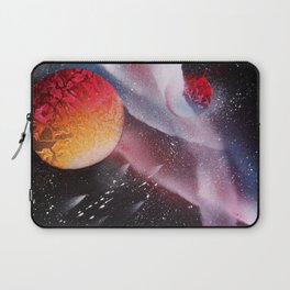 Red planets against the Milky Way with Meteor Shower Laptop Sleeve