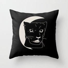 Panther Moon Throw Pillow