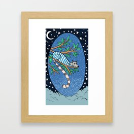 Good night lemoor Framed Art Print
