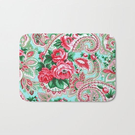 Floral Paisley Pattern 01 Bath Mat
