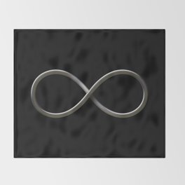 Infinity symbol Throw Blanket
