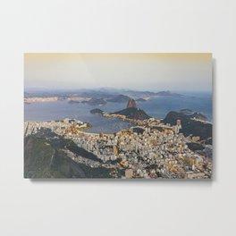 Beautiful Rio de Janeiro at sunset Metal Print