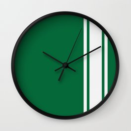 Green Racer Wall Clock