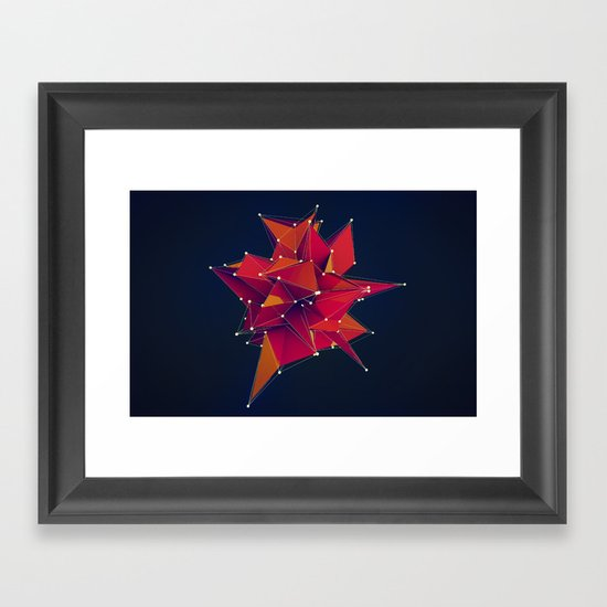 Architecture Polygons Framed Art Print