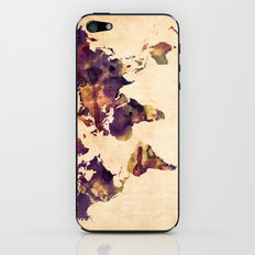 World Map Watercolor iPhone & iPod Skin
