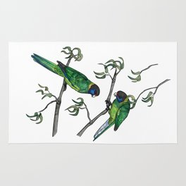 Ringneck Parrots Rug