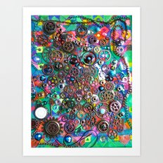 Chase the Gears Art Print