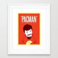 pacman Framed Art Prints featuring Pacman by Yo Jimbo