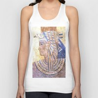 egyptian Tank Tops featuring Egyptian Queen by Brian Raggatt
