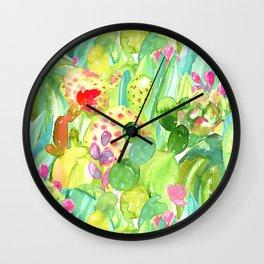 Lush Cacti Jungle Wall Clock