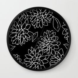 floating dahlias Wall Clock