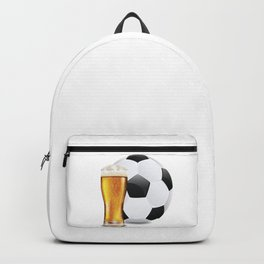 Beer and Soccer Ball Backpack