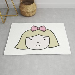 Little Lady - Abigail with pink bow Rug