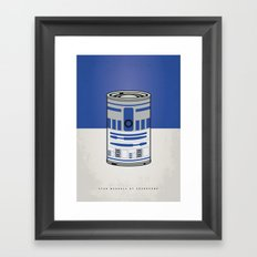 MY STAR WARHOLS R2D2 MINIMAL CAN POSTER Framed Art Print