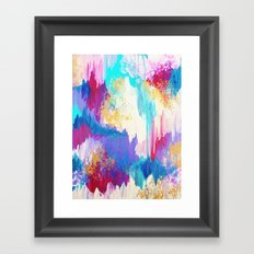 SWEET DREAMS - Lovely Bright Soft Pastel Modern Abstract Fun Nursery Ombre Design Acrylic Painting Framed Art Print