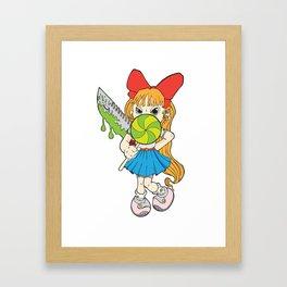 Lolipop Cuteness Framed Art Print
