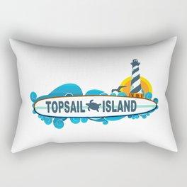 Topsail Island - North Carolina. Rectangular Pillow